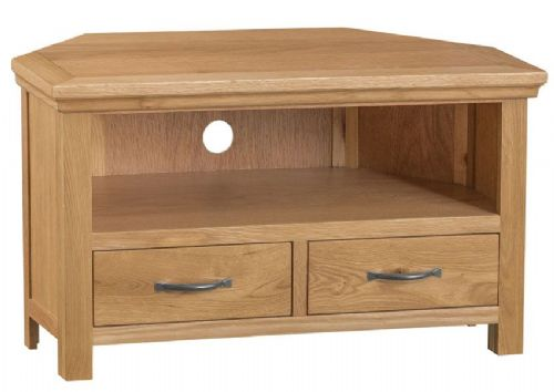 Cornish Oak Corner TV Unit